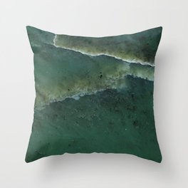 Green pounamu Throw Pillow