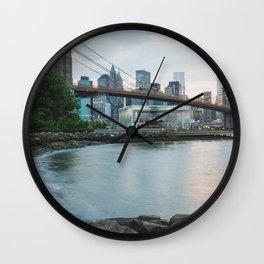 New York City Sunsets Wall Clock