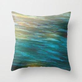 Turbulance in Breaking Light Throw Pillow