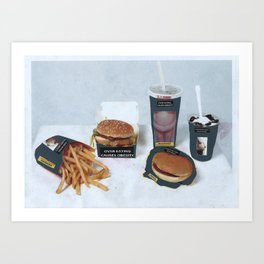 Over eating causes obesity Art Print