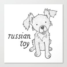 Dog Breeds: Russian Short Haired Terrier Canvas Print