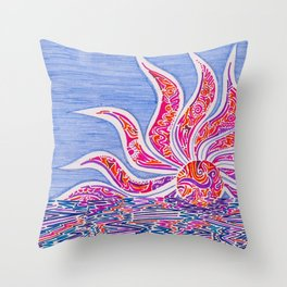 Hectic Sunset Throw Pillow