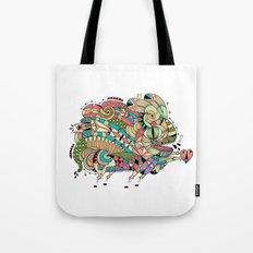 Monster Bunny Tote Bag