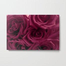 Dark Red Roses Metal Print