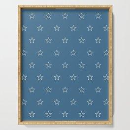 White star blue back pattern Serving Tray