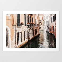 Beautiful and empty canalstreet of Venice | Photography print Art Print