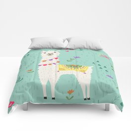 Festive Llama Comforters