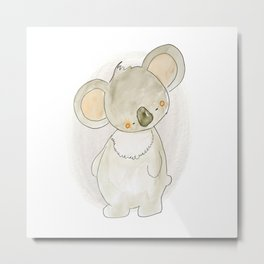 Animal Tales - Sweet Koala in Watercolor Metal Print