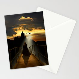 The monk Stationery Cards