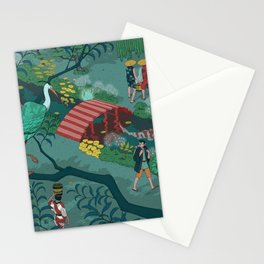Ukiyo-e tale: The beginning of the trip Stationery Cards