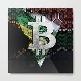 bitcoin South Africa Metal Print
