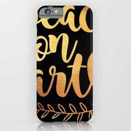 Peace_on_earth Pattern Peace On Earth Merry Christmas Xmas Holiday Love2 iPhone Case