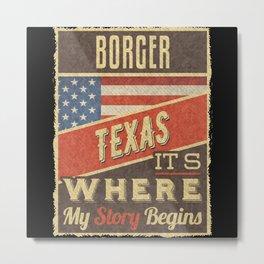 Borger Texas Metal Print