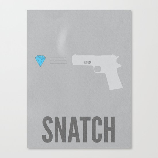 Snatch Minimalist Poster Canvas Print