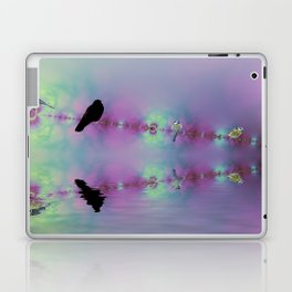 Birds on a wire reflected Laptop & iPad Skin