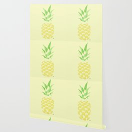 Pineapple watercolour (yellow) Wallpaper
