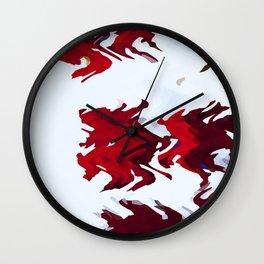 Red Ribbons Wall Clock