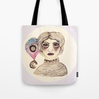 cassandra jean Tote Bags featuring Cassandra three: mad. by Tessa Sinclair Scott