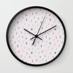 Bright Letters Wall Clock