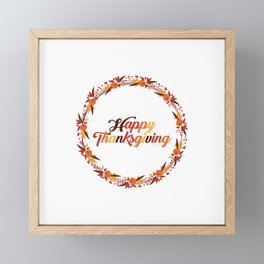 Happy Thanksgiving Framed Mini Art Print