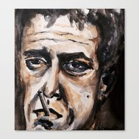 lou reed Canvas Prints featuring Lou Reed by lo defran