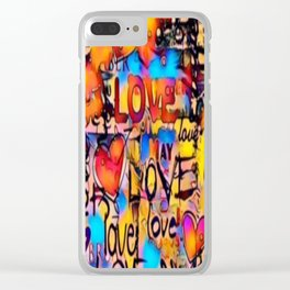 Graffiti Love Clear iPhone Case