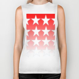 Red and White Stars, Faded Stars, Patriotic Biker Tank