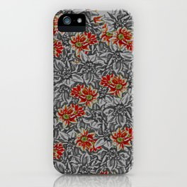 Floral grey iPhone Case