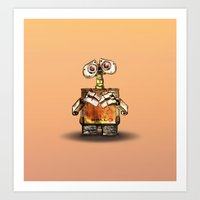wall e Art Prints featuring Wall-E by Naadi