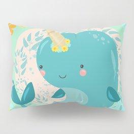 Pretty Princess Narwhal Pillow Sham