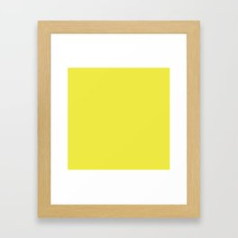 Blazing Yellow | Solid Colour Framed Art Print