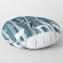 Snow Caribou Floor Pillow