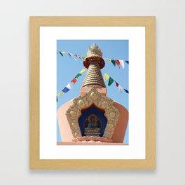 Buddhist Stupa  Framed Art Print
