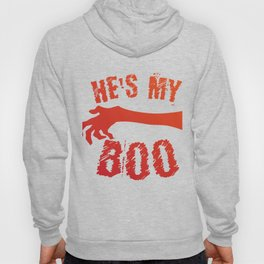 He's My Boo Halloween Love Couple Married Hoody
