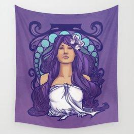 Iris Nouveau Wall Tapestry