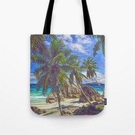 La Digue beach Tote Bag