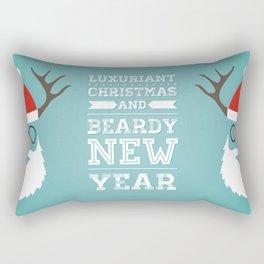 Luxuriant Christmas and Beardy New Year Rectangular Pillow