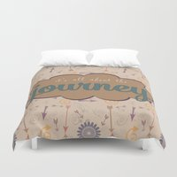 journey Duvet Covers featuring Journey by Skuishy