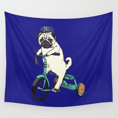 Royals Pug Wall Tapestry
