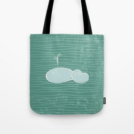 whale in the waves Tote Bag