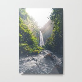 Indonesian Waterfall Metal Print