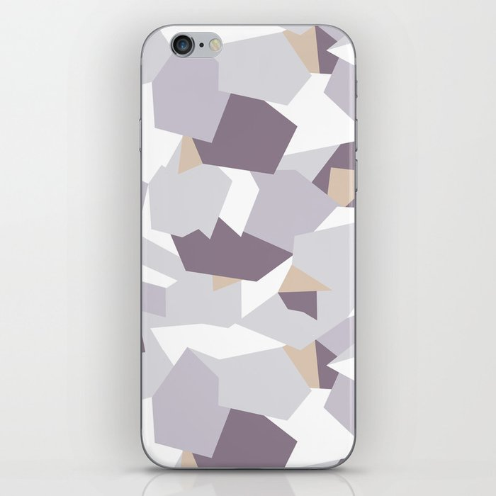 Violet abstract forms iPhone Skin
