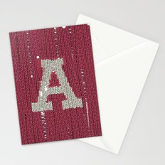 Winter clothes II. Letter A Stationery Cards