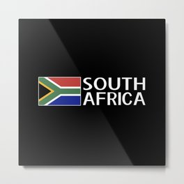 South Africa: South African Flag & South Africa Metal Print