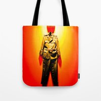 military Tote Bags featuring MILITARY DRESS by Alejandra Triana Muñoz (Alejandra Sweet