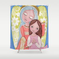 cooking Shower Curtains featuring Cooking with Mom by Evonan Gallery