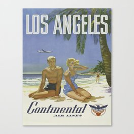 Vintage poster - Los Angeles Canvas Print