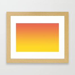 Pantone Living Coral & Vibrant Yellow Gradient Ombre Blend Framed Art Print