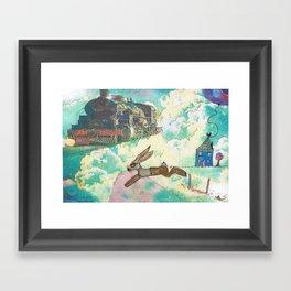 Run Bertie Framed Art Print