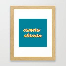 camera obscura Framed Art Print
